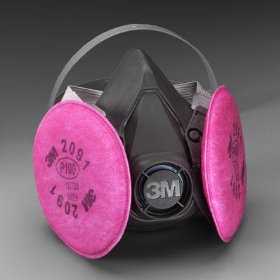 3M 1840704 Cartridge Half-Facepiece Respirator Half Facepiece, M