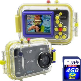 Acqua DC-1231 Black 12MP Max. Digital Still Camera with waterproof case (4GB High Speed SD Card Included)