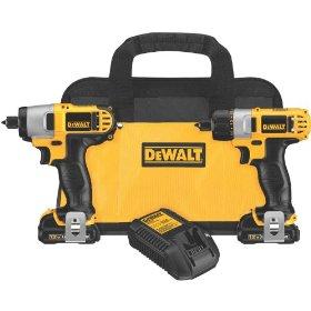 DEWALT DCK210S2 12-Volt Max Screwdriver / Impact Driver Combo Kit