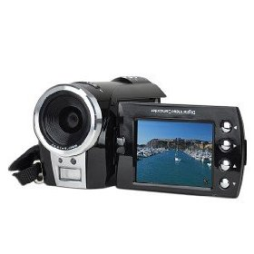 "DV7000A SD/SDHC High-Definition 720p Digital Camcorder w/4x Digital Zoom & 2.4"" Flipout LCD (Black)"