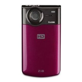 Kodak Zi8 Pocket Video Camera - Camcorder - High Definition - widescreen - 5.0 Mpix - supported memory: SD, SDHC - flash card - raspberry - refurbished