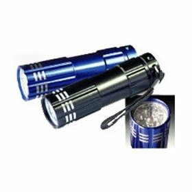 9 LED Heavy-Duty Compact Aluminium Flashlight - Black