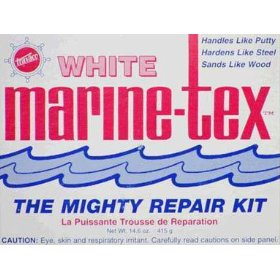 Marine Tex Mighty Repair Kit (White/White, 14-Ounce)