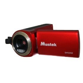 Mustek DV539Z 5-In-One Multi-Functional Video Camera with 4X Digital Zoom 2.4-Inch TFT-LCD Screen (Red)