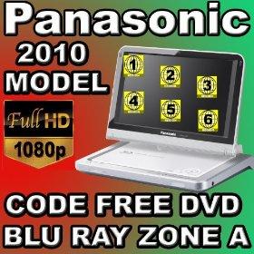 2010 Panasonic DMP-B100 Region Code Free DVD & Blu Ray Player DVD Region 012345678 PAL/NTSC Blu Ray Zone A 100~240V