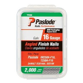 Paslode 650047 2-Inch by 16 Gauge 20 Degree Angled Galvanized Finish Nail (2,000 per Box)