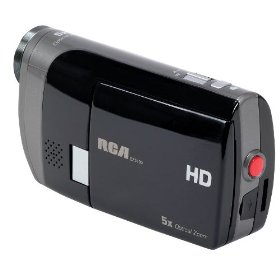 RCA EZ5100R Small Wonder Palm Style HD 1080P Digital Camcorder (Black/Slver)
