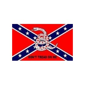 NEW 3x5 Rebel Don't Tread On Me Confederate Flag 3 x 5
