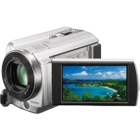 Sony Handycam DCR-SR68E - Camcorder - widescreen - 800 Kpix - optical zoom: 60 x - supported memory: SD, MS PRO Duo, SDHC - HDD : 80 GB - flash card
