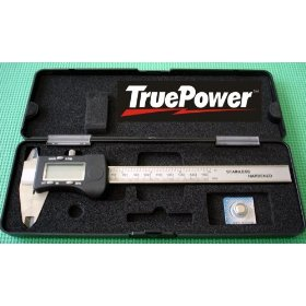 """True Power 6""""(150mm) Stainless Steel Digital Vernier Caliper with Inch Fractions/Decimal SAE/Metric Unit Display & Conversion"""