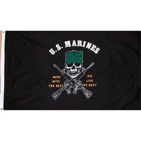 U.S. Marines Flag 3ft x 5ft - Mess with the Best, Die Like the Rest