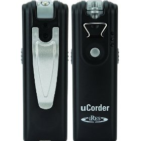 uCorder IRDC250 Wearable Video Camera / Recorder with 2 GB Built-in Memory plus PC Webcam (Black)