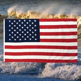 US Flag 2ftx3ft Superknit Polyester