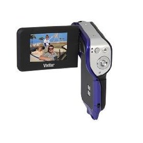 Vivitar Underwater Flash Memory Camcorder (DVR 850W-PR) with 128MB Internal Storage - Purple
