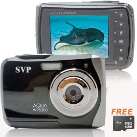 NEW WP5300 Black(with Mirco 4GB)Waterproof 12MP Digital Camera& Video Recorder