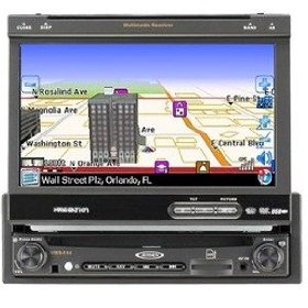 "Buy Jensen Car Multimedia - "" Jensen VM9414 Single DIN MultiMedia Receiver with 7-Inch Inch Flip Out Touch Screen, Integrated Navigation System: Car Electronics\"""